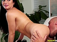 Latina chick has boyfriend but she doesn't mind riding man's big dick and being fucked in doggy 6