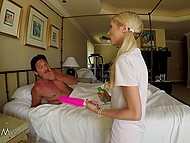 Brutal lovelace got excited because of his horny stepdaughter and allowed her to blow him 7