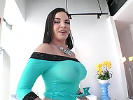 Gonzo video where man fucks spectacular brunette in asshole and cums in her mouth 3