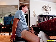 Latina soothsayer with juicy shapes predicts young client's future and presents him blowjob 8