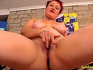 Mature woman with red hair meets hairy man, who makes her sexual fantasies come true 5