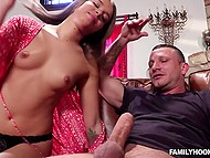 Skinny didn't know how to deny brazen male who just took and fucked her into mouth and pussy 4
