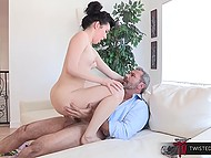 Young woman Aria Alexander with small boobies gives pussy to experienced lover to fuck 5