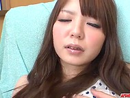 Eighteen-year-old Japanese babe doesn't have bf yet but already knows how to use dildo 5