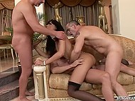 Fiery brunette from Hungary drives long dicks with her own hand into all wet holes 9