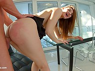 Many girls are afraid of anal sex but this slutty bitch takes cock in ass at every opportunity 7