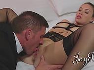 Rich businessman satisfies bondage fetish during sex with his favorite courtesan 4
