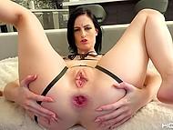 Buddy with erect bulge assfucks and anally creampies long-legged brunette Alex Harper 11