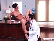 Raunchy doctor needs to lick and fuck Jada Stevens' pussy for right diagnosis 8