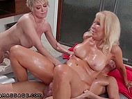 Mature Erica Lauren joins stepson and Dee Williams for amazing threeway in shower