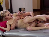 Young masseuse turns out to be big fan of fucking and guy fucks her snatch without any problem 5