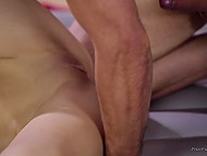 Young masseuse turns out to be big fan of fucking and guy fucks her snatch without any problem 9