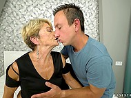 Fun with pretty granny is what young buddy always wanted to try in his sexual life 4