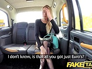 Euros are not good for taxi driver and attractive passenger pays him by sex 3