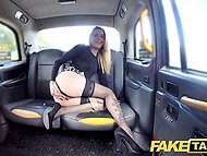 Euros are not good for taxi driver and attractive passenger pays him by sex 6