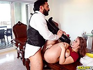 Future wife leaves bearded man and he has time to fuck Lena Paul and cum inside pussy 10