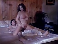 Whiskered man enters bedroom of brunette MILF, who is burning with sexual desire at midningt