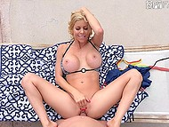 Hot stepmother Alexis Fawx and her stepson passionately make love outdoors by pool 5