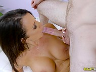 Young worker experiences unforgettable sex with his chesty boss Reagan Foxx in her cabinet 5