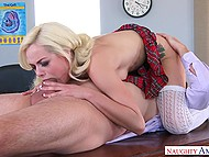 Cutie Elsa Jean seduces professor to avoid punishment for her provocative manners 7