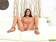 Cameraman asks alluring Latina to tease him and she shoves fingers into pussy 7