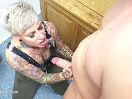 Alt blonde during test in empty class seduces fellow colleague to have quickie 4