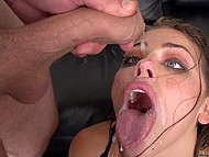 Tireless minx Adriana Chechik squirts because of many strong dick and gathers cum in mouth 11
