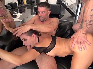 Tireless minx Adriana Chechik squirts because of many strong dick and gathers cum in mouth