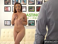 Young Latina newbie doesn't expect porn agent will deepthroat her so roughly at casting 6