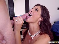 Bald bridegroom has fun with bride's slutty mother Syren De Mer before wedding 11