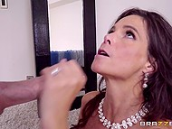 Bald bridegroom has fun with bride's slutty mother Syren De Mer before wedding 8