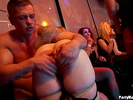 Athletic dancers seduce drunken girls and put cocks in pussies at private party 7