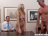 Det er smertefuldt for fyr til at se Mormon præsident fucking hans tynde kæreste, men dette er reglen om engagement