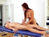 Male is ready to spend any amount of money just to make racy masseuse fondle his cock 7
