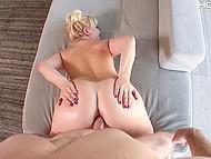 Twin-tailed blonde Velvet Rain enjoys partner's tool inside her welcoming butthole