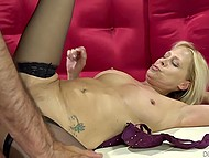 Sexy diva knows how to make young man pop off early spreading legs and sweetly moaning 6