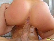 Stacked blonde Olivia Fox finds out that neighbor's cock is big and initiates fucking 6