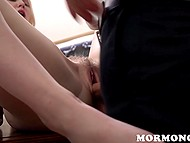 Mormon accepts trustful blonde babe in their sect but just after exploring her pussy depths 10