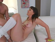 MILF hunter gets lucky to seduce another brunette woman with unshaven pussy 10