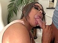 Young buddy had cock long enough to pay a visit into well-rounded MILF's vagina 4