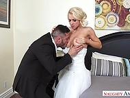 MILF is just a prey for concupiscent predator fucking her pussy at the time of wedding 5
