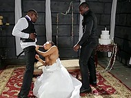 Wedding is an important event so Asa Akira decides to be carnal with big black men for the last time 4