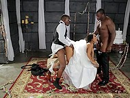 Wedding is an important event so Asa Akira decides to be carnal with big black men for the last time 5