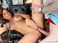 Stepson's friend is next on Syren Demer's sex list and soon young nerd fucks stacked MILF