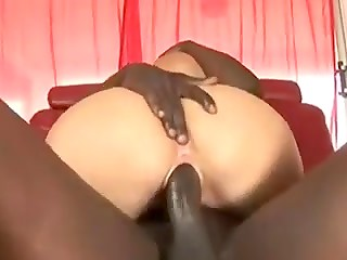 Long black penis up her ass