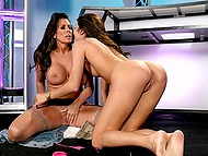 Older and younger lesbians met at dirty TV show to spend pastime with sexual pleasure 11