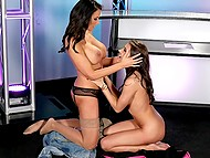 Older and younger lesbians met at dirty TV show to spend pastime with sexual pleasure 7