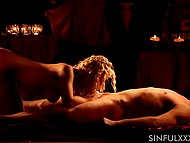 Filthy-minded man hopes passionate oral sex with curly blonde slut will be repeated soon 8