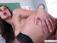 Well-rounded anatomy teacher Kendra Lust has practical lesson with talented student 6