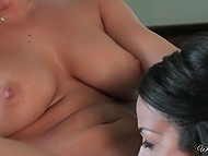Breakfast can be postponed because of busty Keisha Grey's sexual fantasies about her friend 11
